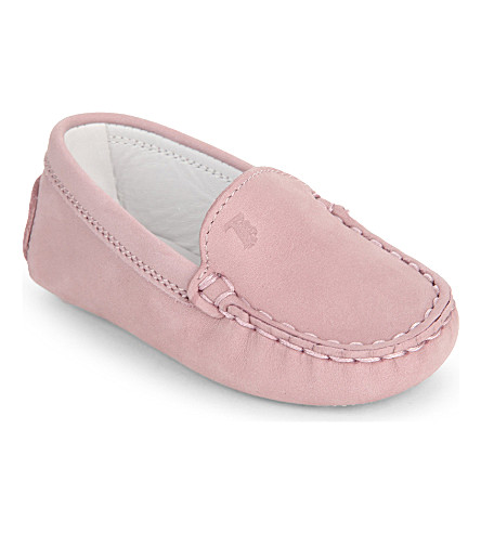 TODS Suede loafers 4 months -1year (Pale+pink