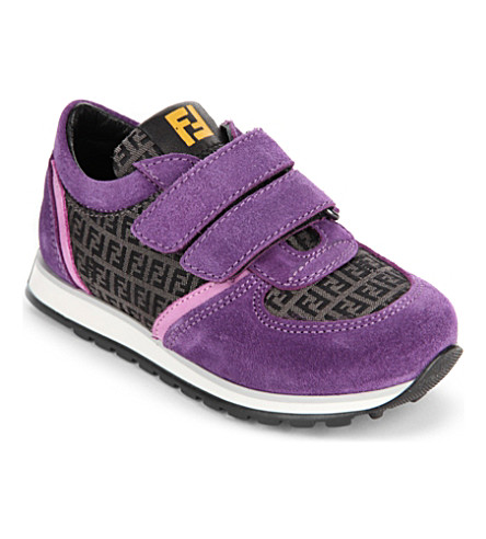 FENDI Logo sneakers 6-11 years (Grey