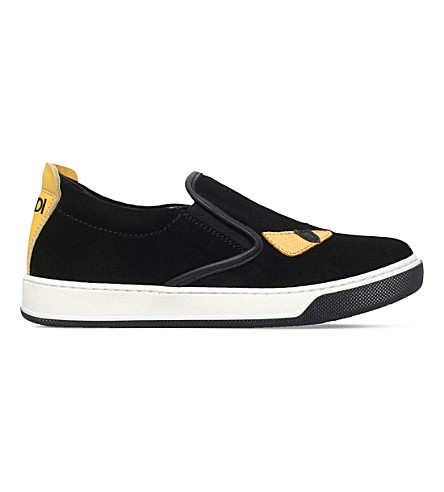 FENDI Monster slip on sneakers 3-10 years (Black