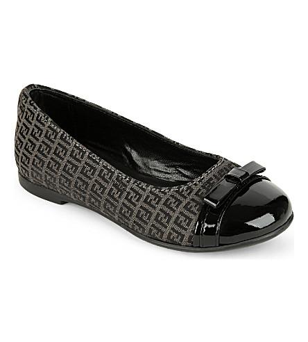FENDI Logo ballerina shoes (Grey