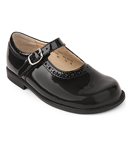 START RITE Louisa patent buckle shoes 3- 4 years (Black