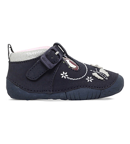 START RITE Mayflower leather shoes 0-12 months (Navy