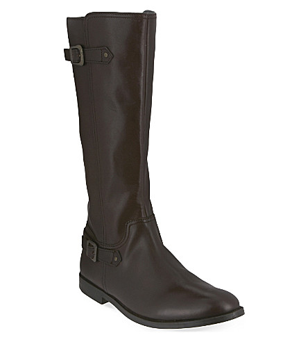 START RITE Tweed leather riding boots 7-10 years (Brown