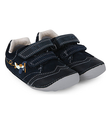 CLARKS Tiny liam leather shoes 6months-2 years (Navy