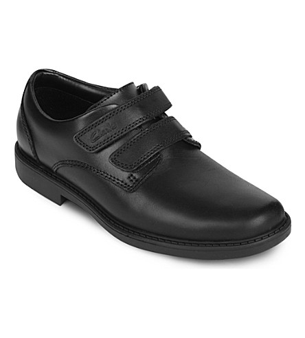 CLARKS Deon Style leather shoes  7-12 years (Black