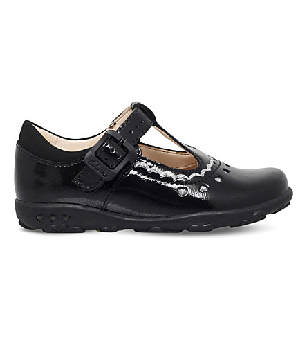 CLARKS Ella Alice patent leather shoes 6 months-3 years (Black