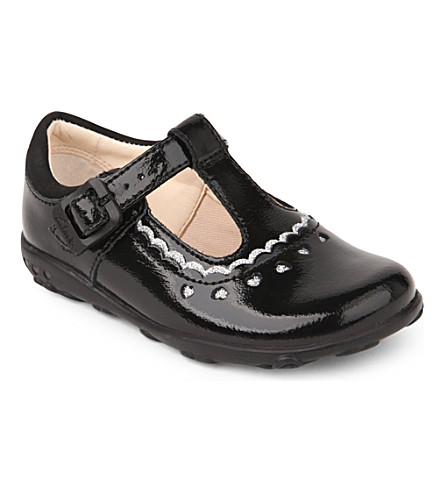 CLARKS Ella Alice leather shoes 6 months-3 years (Black