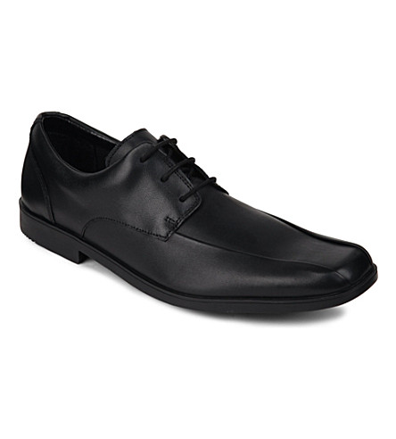 CLARKS Hoxton Chap leather derby shoes 7 years-young adult (Black