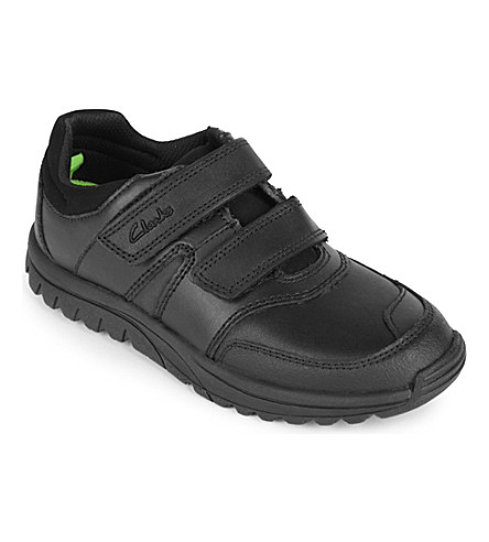 CLARKS JackSpring leather shoes 6-7 years (Black
