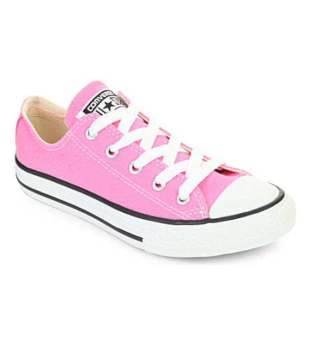 CONVERSE Chuck taylor All Star low top trainers 6-9 years (Pink