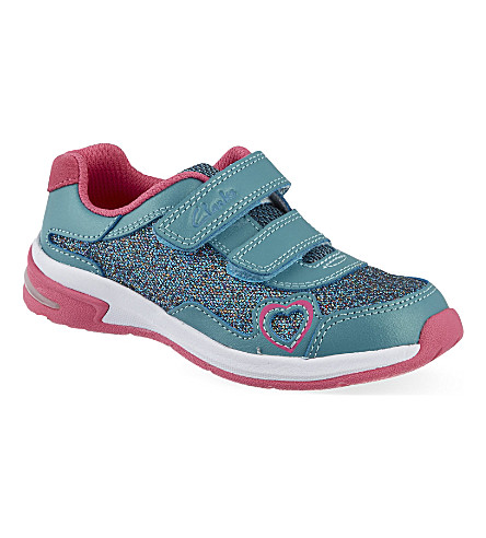 CLARKS Piper ace trainers 3-7 years (Teal