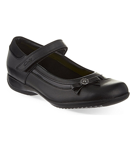 CLARKS Daisy Beth Mary Jane shoes 7-10 years (Black