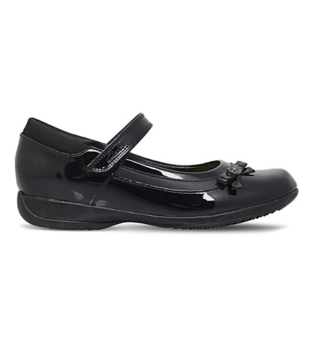 CLARKS Daisy Beth patent-leather shoes 7-11 years (Black