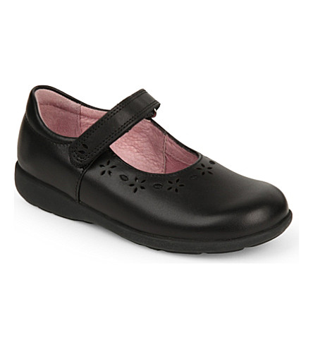 START RITE Emily leather school shoes 5-7 years (Black