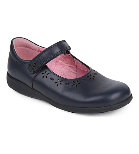 START RITE Emily leather school shoes 5-7 years (Navy