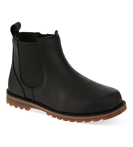 UGG Callum leather Chelsea boots 2-7 years (Black
