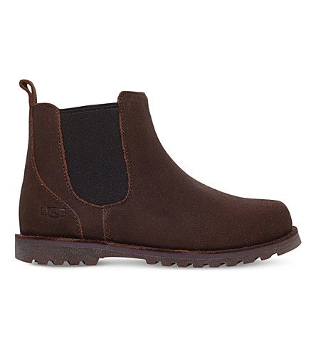 UGG Callum leather boots 2-7 years (Dark+brown
