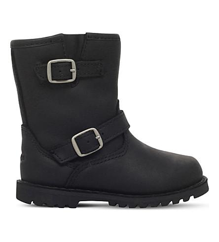 哈维尔皮靴2-4 年 (黑色