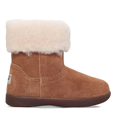 UGG Jorie ii suede and sheepskin boots 2-5 years (Brown