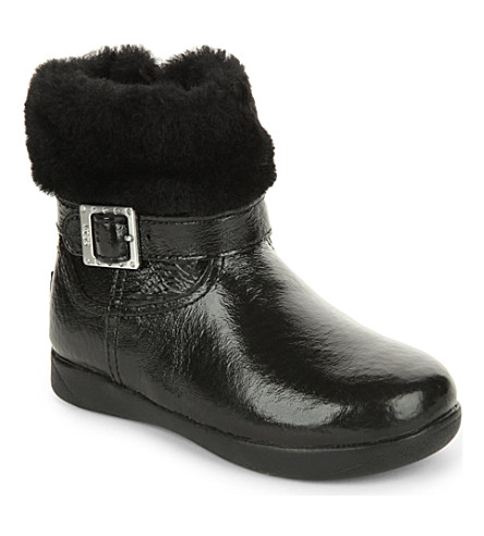 UGG Gemma patent leather boots 2-5 years (Black