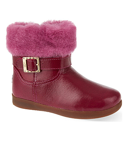UGG Gemma leather boots 2-5 years (Fushia