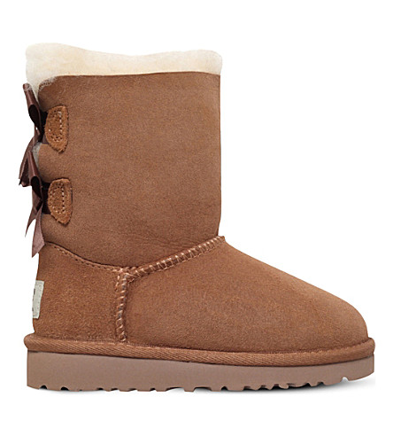 UGG Bailey Bow sheepskin boots 2-6 years (Brown