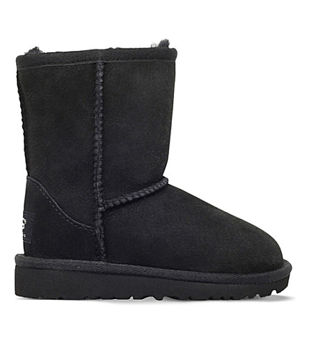 UGG Classic short sheepskin boots 2-7 years (Black