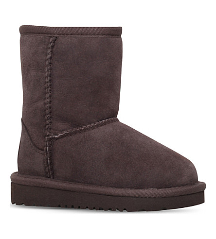 UGG Classic sheepskin boots 2-7 years (Dark+brown