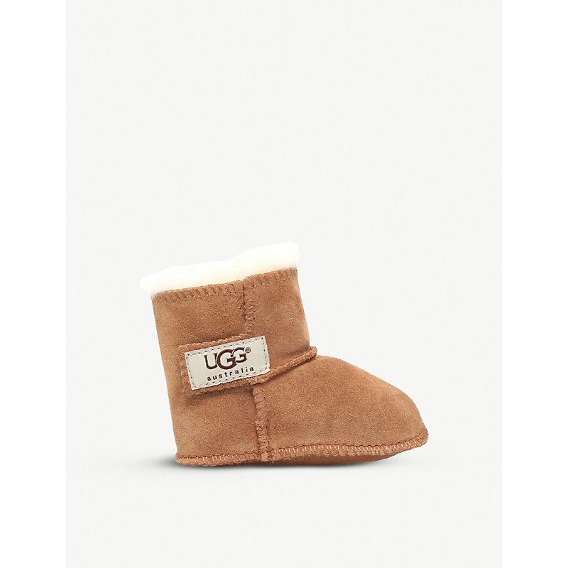UGG   Erin Suede And Sheepskin Boots 0-3 Years   Goxip