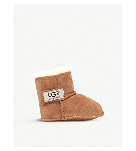UGG Erin suede and sheepskin boots 0-3 years (Brown