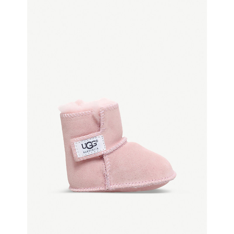 UGG   Erin Suede And Sheepskin Boots 0-12 Months   Goxip