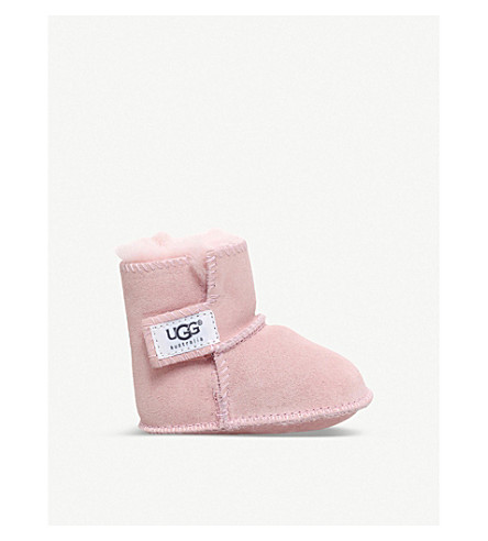 UGG Erin suede and sheepskin boots 0-12 months (Pale+pink