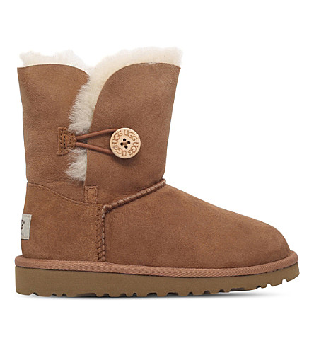 UGG Bailey button sheepskin boots 6-9 years (Brown