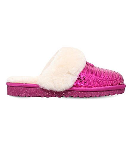 UGG Dazzle sequin slippers 7-10 years (Pink