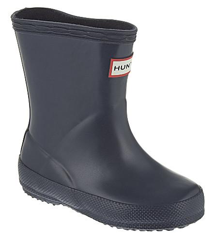 HUNTER 儿童第一经典雨靴2-7 年 (海军