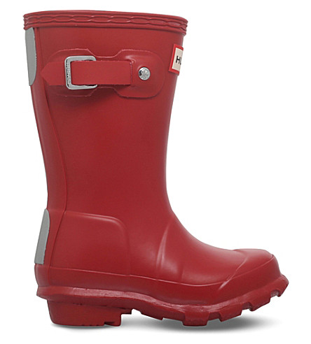 HUNTER Original Kids rubber wellies 3-7 years (Red