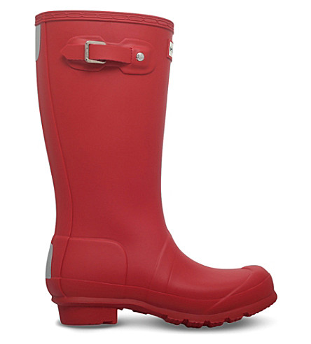 HUNTER Original Kids rubber wellies 7-10 years (Red