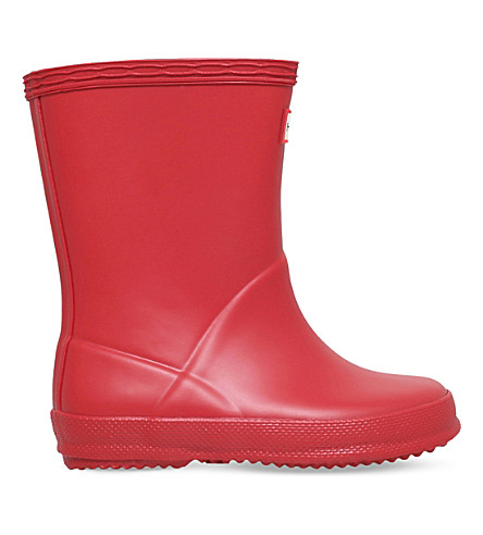 HUNTER Kids First Classic wellington boots 2-7 years (Red