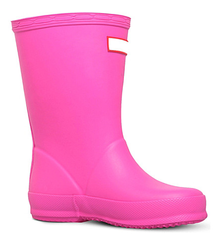 HUNTER Kids first classic wellies 2-7 years (Pink