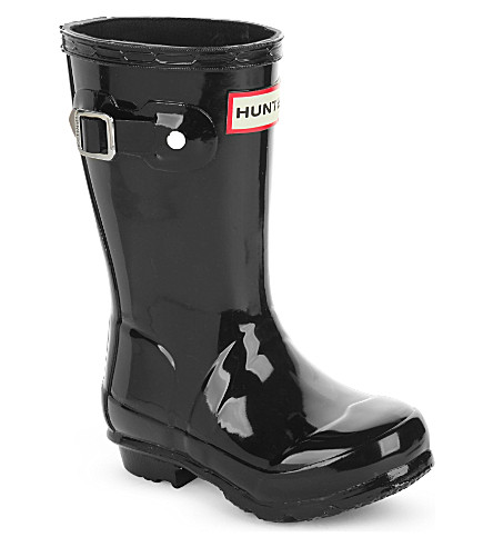 HUNTER Original kids gloss wellington boots 3-6 years (Black