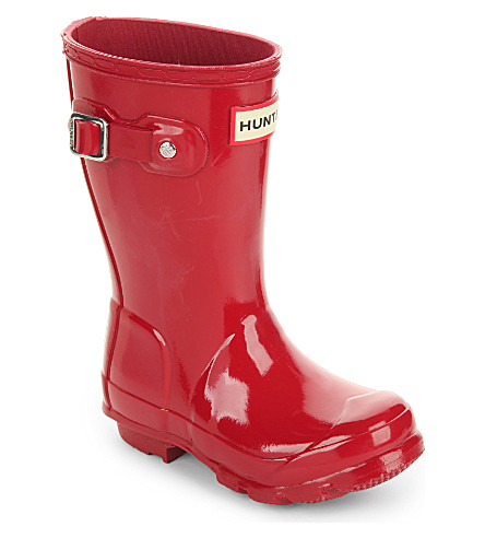 HUNTER Original kids gloss wellington boots 3-6 years (Red
