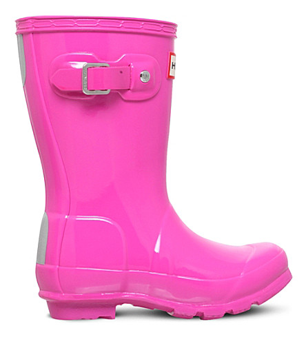 HUNTER Original kids short gloss wellies (Fushia