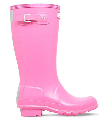 HUNTER Original Kids rubber wellington boots 7-10 years (Fushia