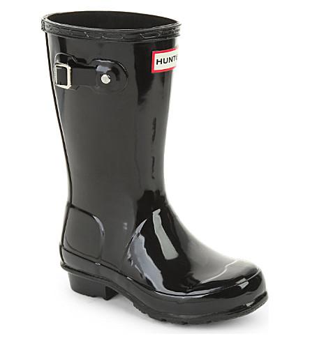 HUNTER Original kids gloss rain boots 7-10 years (Black