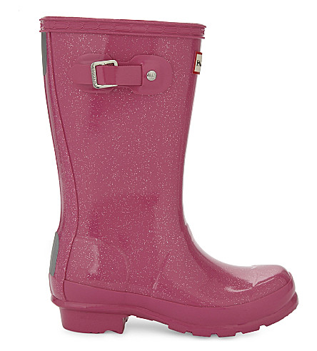 HUNTER Original glitter wellington boots (Fushia