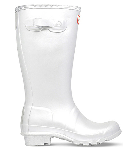HUNTER Original kids metallic-rubber rain boots 7-10 years (Silver