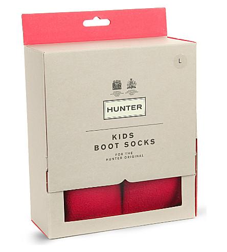 HUNTER 儿童靴袜 (红