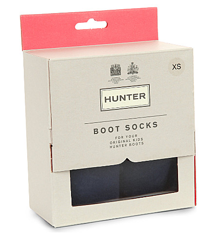 HUNTER Kids boot socks (Navy