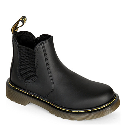 DR MARTENS Banzai leather chelsea boots 6-9 years (Black