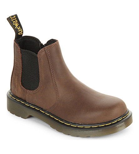 DR MARTENS Banzai leather chelsea boots 6-9 years (Brown